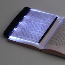 Creative LED Book Light Reading Night Light Flat Plate Portable Travel Panel Dor