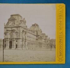 1860/70s France Stereoview Photo Le Louvre Paris Vues Pour Stereoscope P.L
