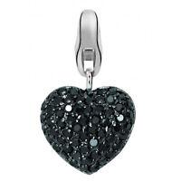 Dream Charms Charm Herz Anhänger echt Silber 925 rhodiniert mit Zirkonia groß