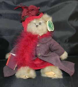 """The Bearington Collection 15"""" Queen Fedora Bear Red Hat with tags"""