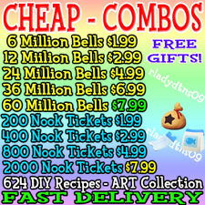 Animal Crossing:New Horizons Bells Nook Miles Tickets Materials! Fast Delivery✅