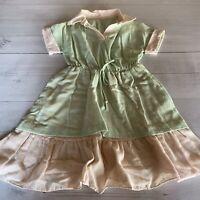 Vintage Cotton Handmade Girls Dress Sz 6/8