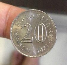 Malaysia Parliament coin 1981 20 sen very high grade! lustre??