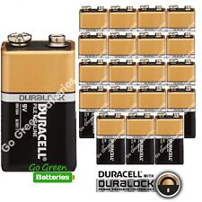 20 x Duracell 9V Alkaline Batteries Plus Duralock CopperTop PP3 LR22 BLOC MN1604