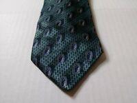 Zianetti Mens Green Geometric Neck Tie 100% Silk Made In Italy