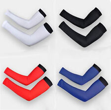 Cycling Bike Bicycle Arm Warmers Cuff Sleeve Cover Sun Protection White L size