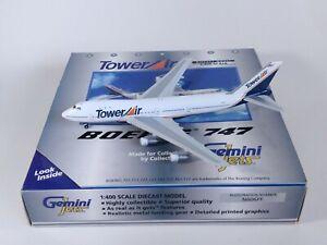 TOWER AIR Boeing 747-100 N606FF Metal Aircraft Model 1:400 Scale Gemini Jets