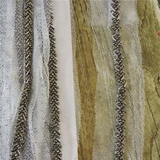 10 yard  Bead Lace Mesh Fabric for Wedding Women Accessory Gun