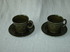 More details for 2 retro tams green cups & saucers 7.5 cm high 8.5 cm wide & 14.5 cm wide