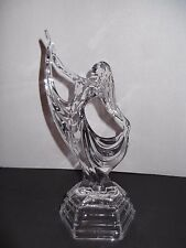 """RCR CRYSTAL ART DECO WOMAN LADY GLASS DANCER 11.5"""" STATUE ITALY ***FREE SHIP***"""