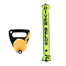 4FT Scuba Diver Signal Tube Sausage (SMB) Surface Marker Buoy with Dive Reel