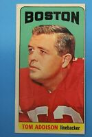 1965 Topps Tom Addison Card #1 - Boston Patriots