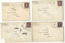 4 WWI covers U.S.S. WISCONSIN battleship Jul-Aug 1918, censored