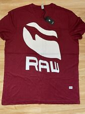 G Star New Mens Regular Fit Red XXL T Shirt RRP £25