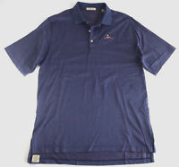 Peter Millar Mens Blue Polo Short Sleeve Dotted Shirt Charles River - Size Large