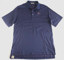 Peter Millar Men's Large Golf Polo Blue Short Sleeve Dotted Shirt Charles River