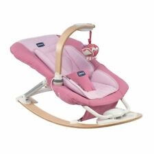 Chicco I-Feel Pink Baby Bouncer Rocker Chair Light sound music.mp3 functions