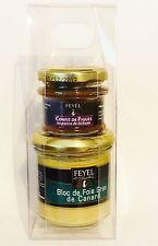 Bloc foie gras de canard set con higos confit hígados Feyel francia! nuevo!