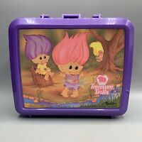 Vintage Treasure Trolls Lunch Box & Thermos Aladdin 1992 Mint Ace Novelty