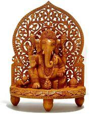 Large Statue Ganesha Ganesh God Elephant Hindu Lord Figurine Wood CraftVatika
