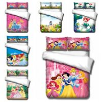 3D Disney Cartoon Princess Kids Bedding Set Duvet Cover Pillowcase Quilt Cover