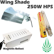 250W HPS And Magnetic Ballast With Aluminum Adjustable Wing Shade Hydroponics