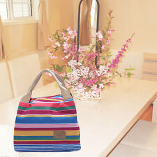 Portable Insulated Thermal Cool Lunch Box Carry Tote Storage Bag Picnic blue GV