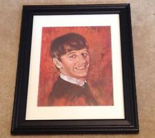 1960's Beatles Oil Painting Print Framed Signed by Leo Jansen Ringo Starr