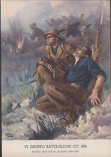 VI Gruppo Battaglioni CC.  NN.  PASSO MECAN 31 Marzo 1936, XIV, non viaggiata.