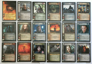 Lord of the Rings TCG Fellowship of the Ring Anthology 18 Card Tengwar Set Mint