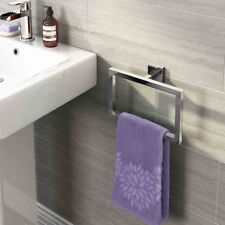 Chrome Bathroom Accessory Sets Toilet Roll Holder Towel Square Wall Mounted