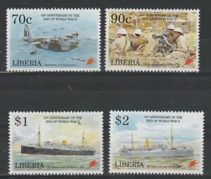 LIBERIA 8 MAY 1995 ANN OF THE END OF THE WAR COMMEMORATIVE SET OF ALL 4 MNH