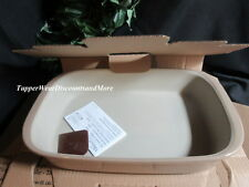 Pampered Chef Brand New In Box Rectangular Baker Taupe # 1362