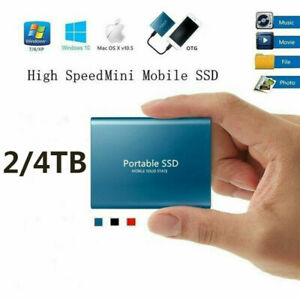 4TB USB 3.1 External SSD Hard Drive Disk High Speed Solid State Portable Phone