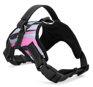 No Pull Pet Harness Adjustable Control Vest Dogs Reflective XS S M XXLPinkCamo