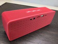 Portable Oblong Wireless Bluetooth Speaker - Red
