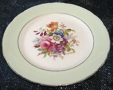 Hammersley English bone china with floral centre panel & mint green border 8ins