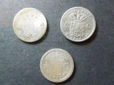 J1156  NETHERLANDS EAST  INDIES  1898+1901 + 1914  SILVER 1/10  GULDEN