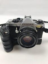 Pentax ME Super 35mm Film Camera & Pentax 50mm 1:2 Lens  + Winder Me II 2