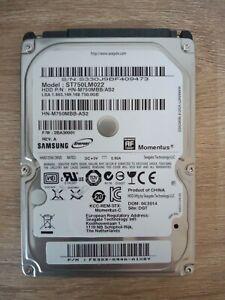 "USED Samsung 750GB Internal Hard Drive 2.5"" Sata ST750LM022"