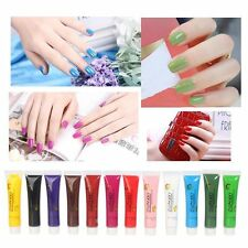 12 Colors 3D Nail Art Paint Tube Draw Painting Acrylic Nail Art Tip EA
