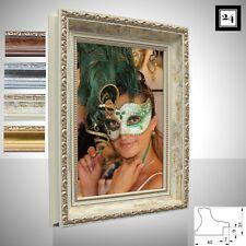 Bilderrahmen Athen Foto Poster Holz Antik Barock Prunk Shabby Vintage 3 Farben