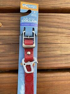 "Kurgo New Red Muck Collar Size Small 10-14"" Waterproof Bottle Opener"