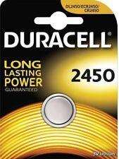 1 pila batteria DURACELL  2450   CR2450    DL2450  ECR2450 3 V  LITHIUM BATTERIA