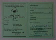 grünes ABE  Betriebserlaubnis SIMSON veb DDR Moped Simme ab 1980 Blanko papier