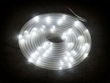 5m White LED Solar Powered Tube Light Outdoor Decoration Decking, Patios, Doors