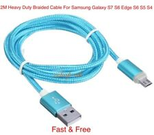 1x Genuine 2M Fast Charging Usb Lead Cable For Samsung Galaxy S7 S6 Edge S5 S4