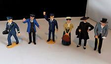 Vintage Plastic Larger G Gauge Railway Figures x 6, Possibly LGB or Similar.