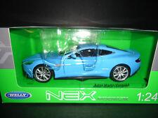 Welly Aston Martin Vanquish Sky Blue 1/24