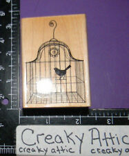 BIRD IN A CAGE BIRDCAGE RUBBER STAMPS HERO ARTS F4899